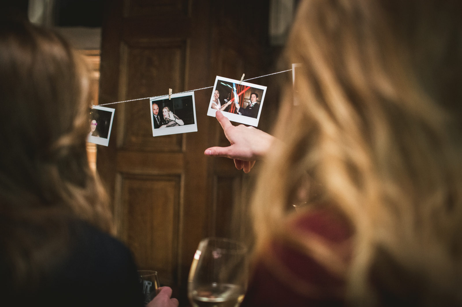 polaroids are special touches for wedding reception