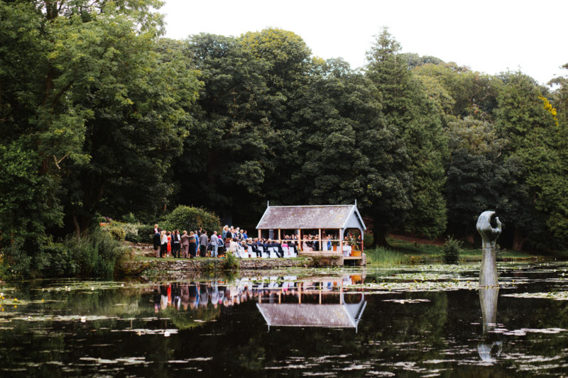 outdoor wedding ceremony in Wales