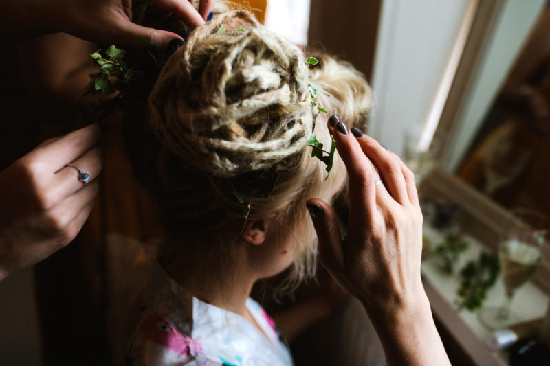 Wedding up-do dreadlocks