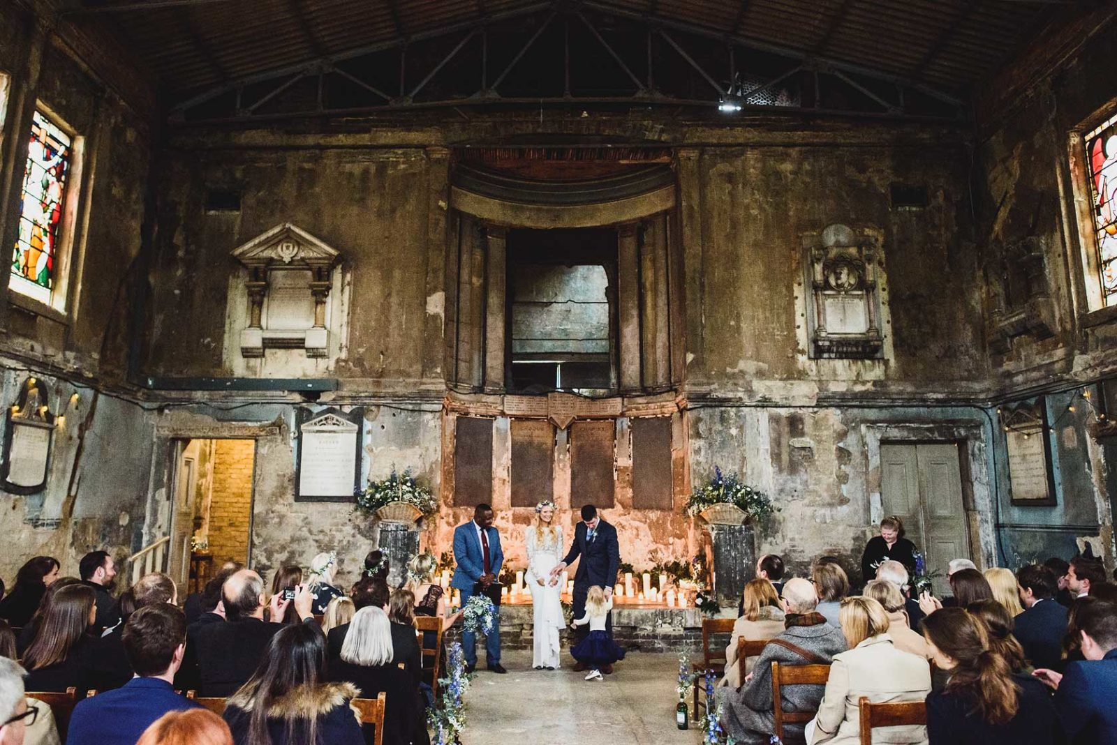 Derelict church wedding London