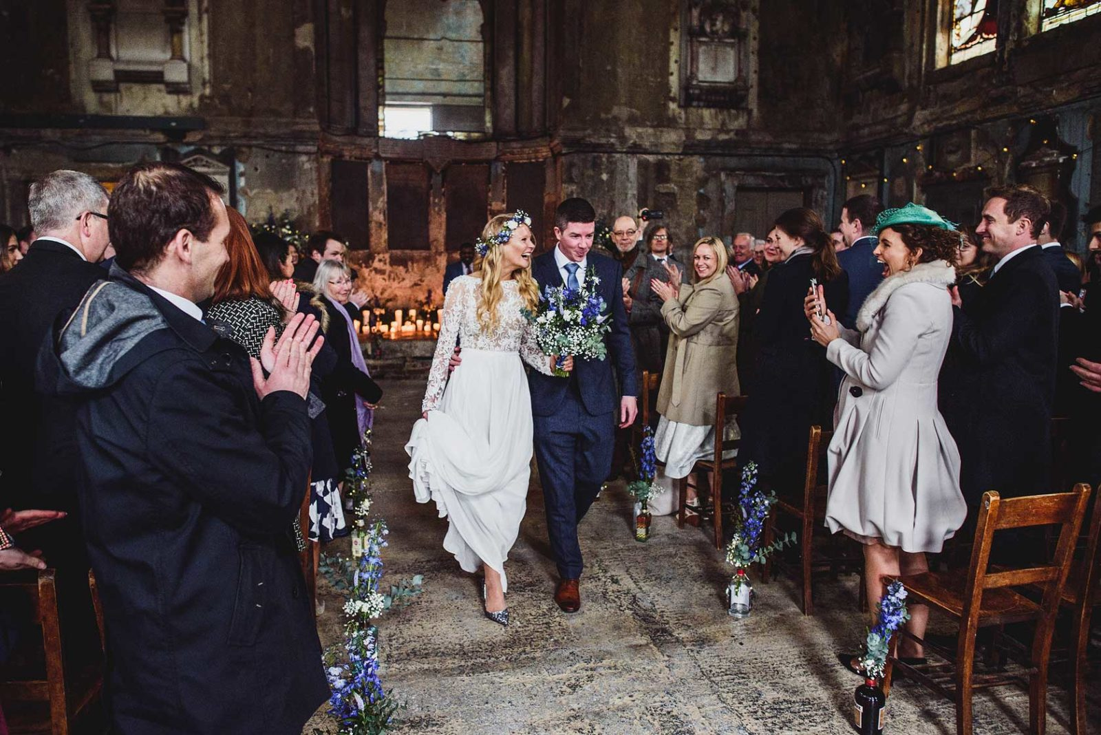 Boho wedding in unusual wedding venue