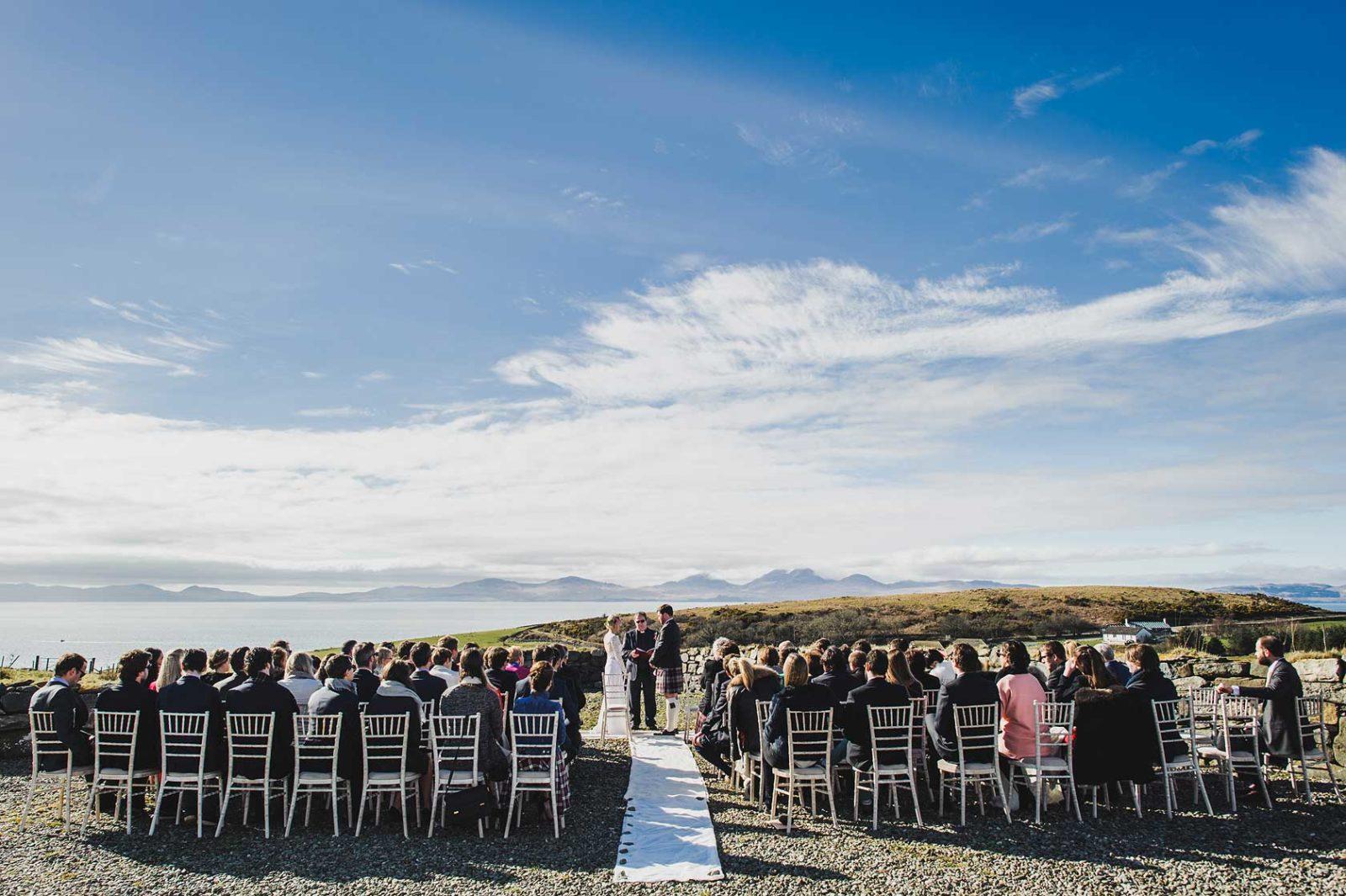 Crear Argyll outdoor wedding ceremony