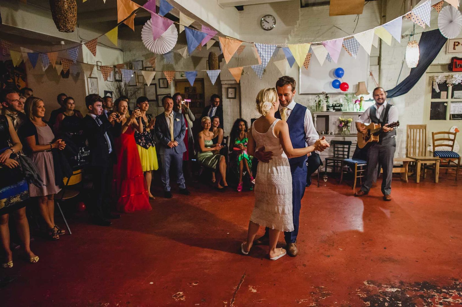 unusual-wedding-venue-First dance at Hackney City Farm