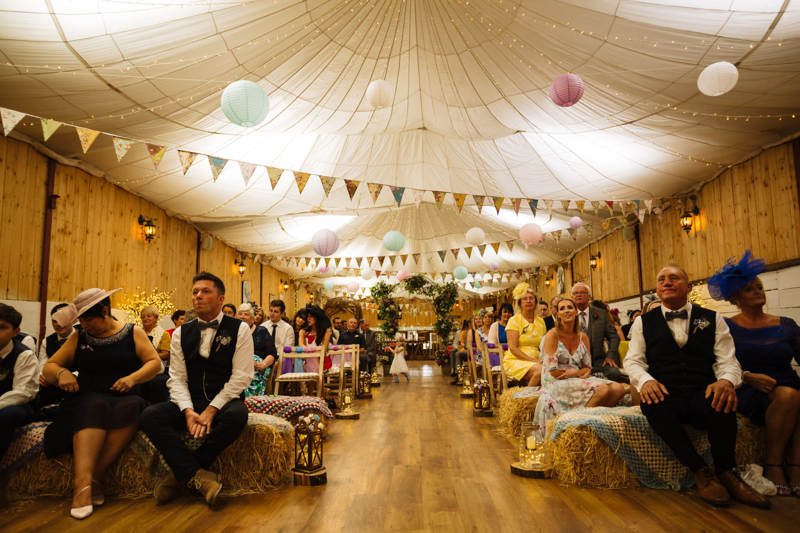 Colourful wedding ceremony in Wellbeing Farm