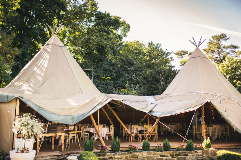 Yurts at Woodhill Hall Northumberland by Andy Hudson Photography