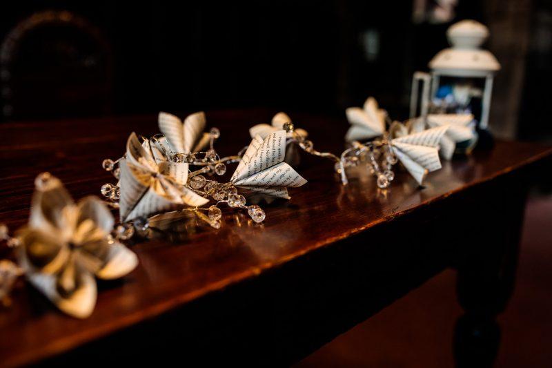 paper flowers Harry Potter wedding theme