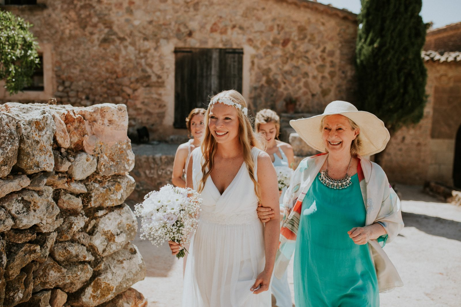 Deya Mallorca ethereal bride and mother of bride