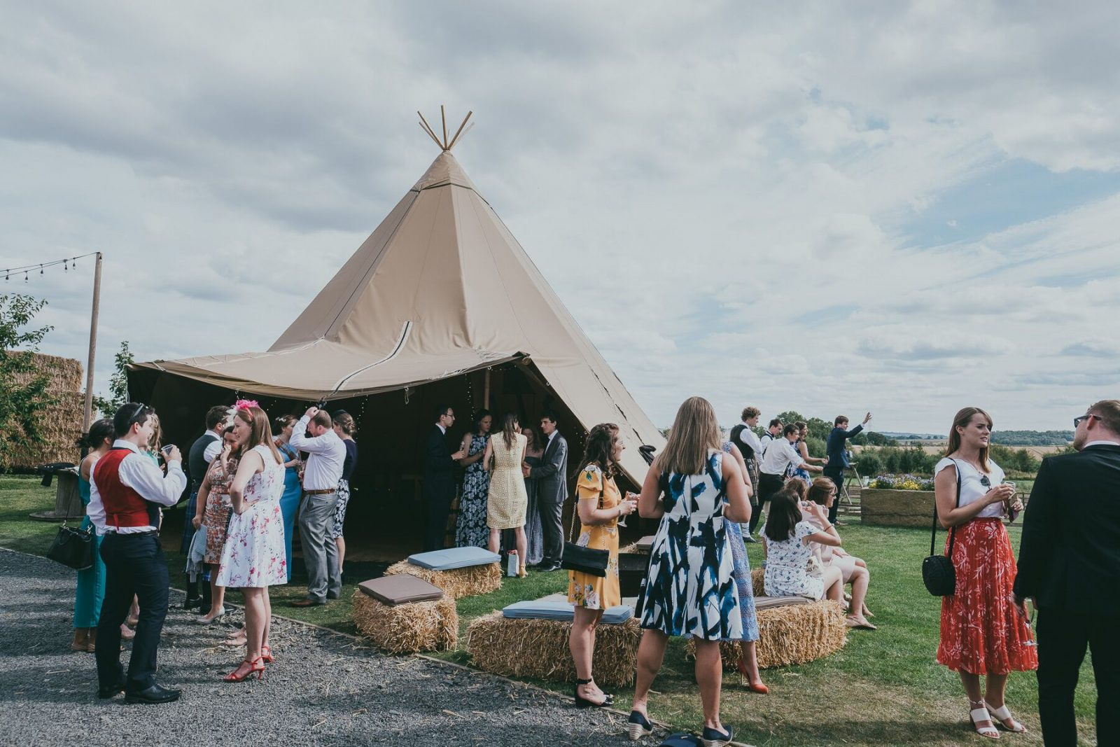 Tipi wedding Vallum Weddings Northumberland