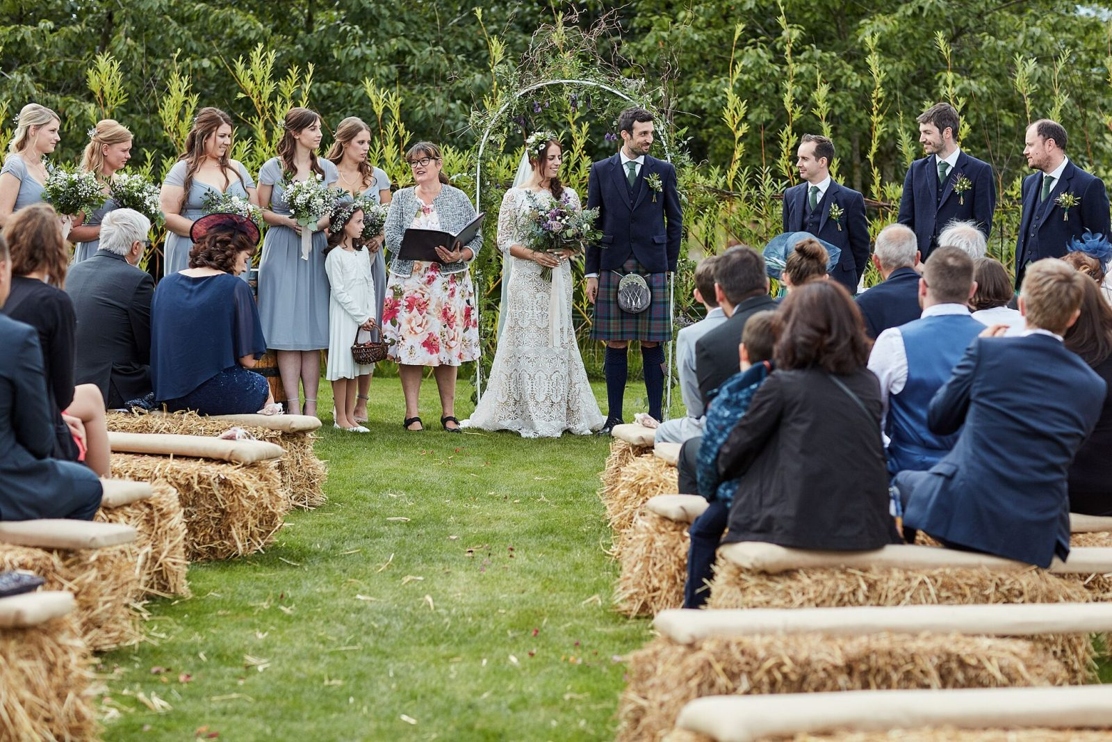 Outdoor ceremony Vallum Weddings Northumberland