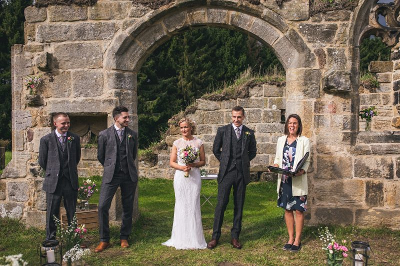 County Durham wedding venu outdoor humanist ceremony Andy Hudson Photography