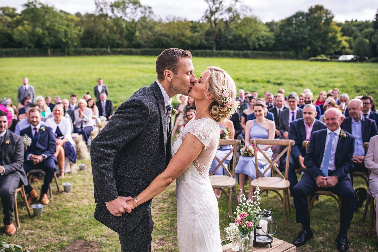 Outdoor boho wedding Northumberland
