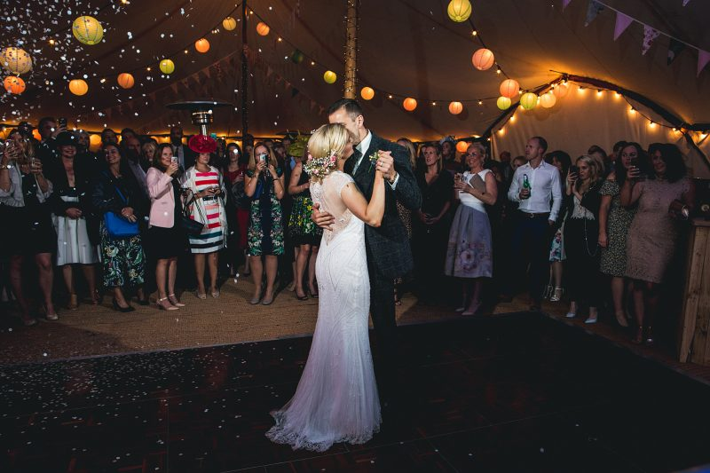 First dance paper lanterns Andy Hudson Photography