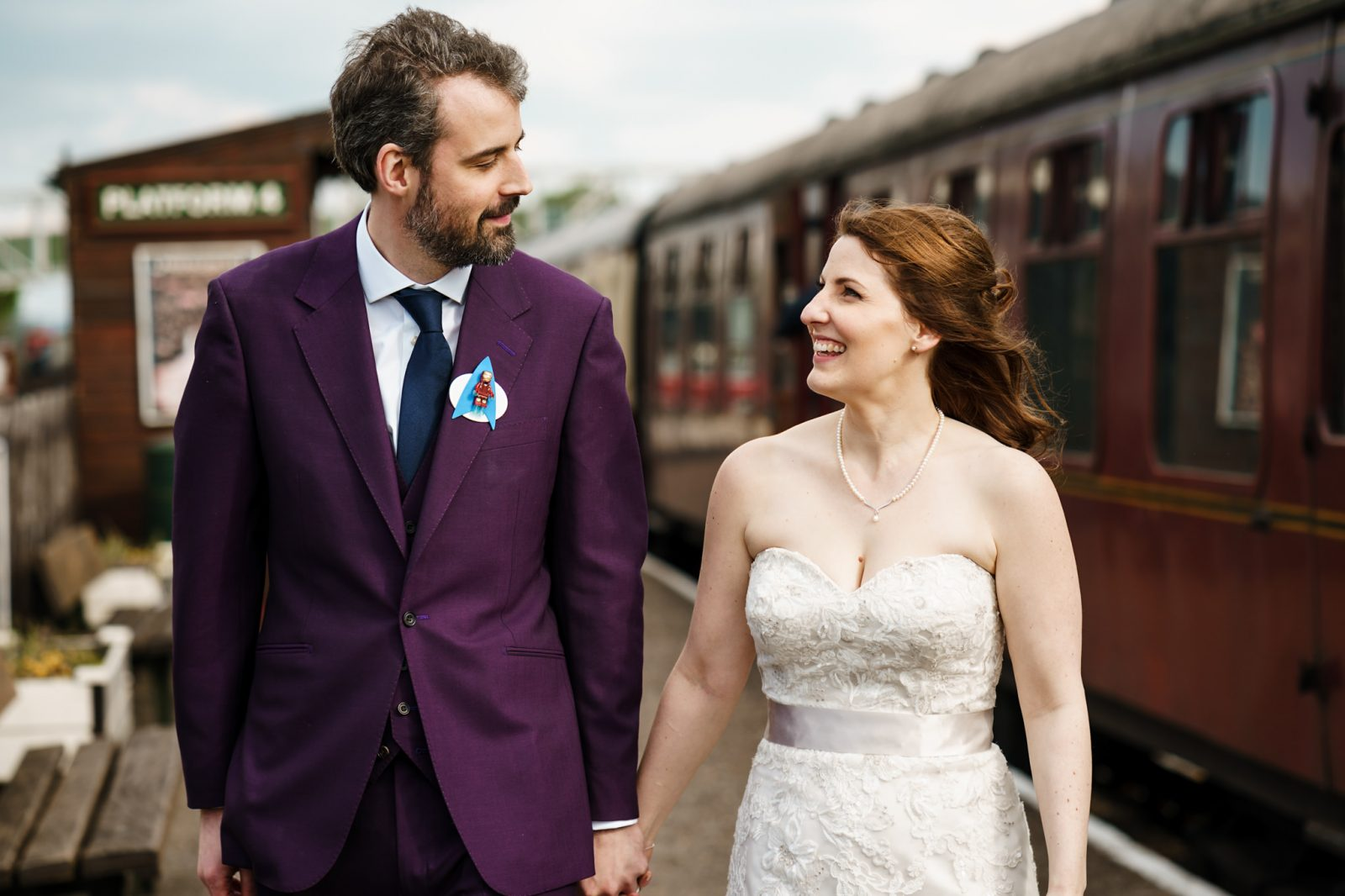 Steam trains and superheroes – Laura & Ed