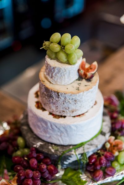 Cheese cake grapes figs wedding ideas