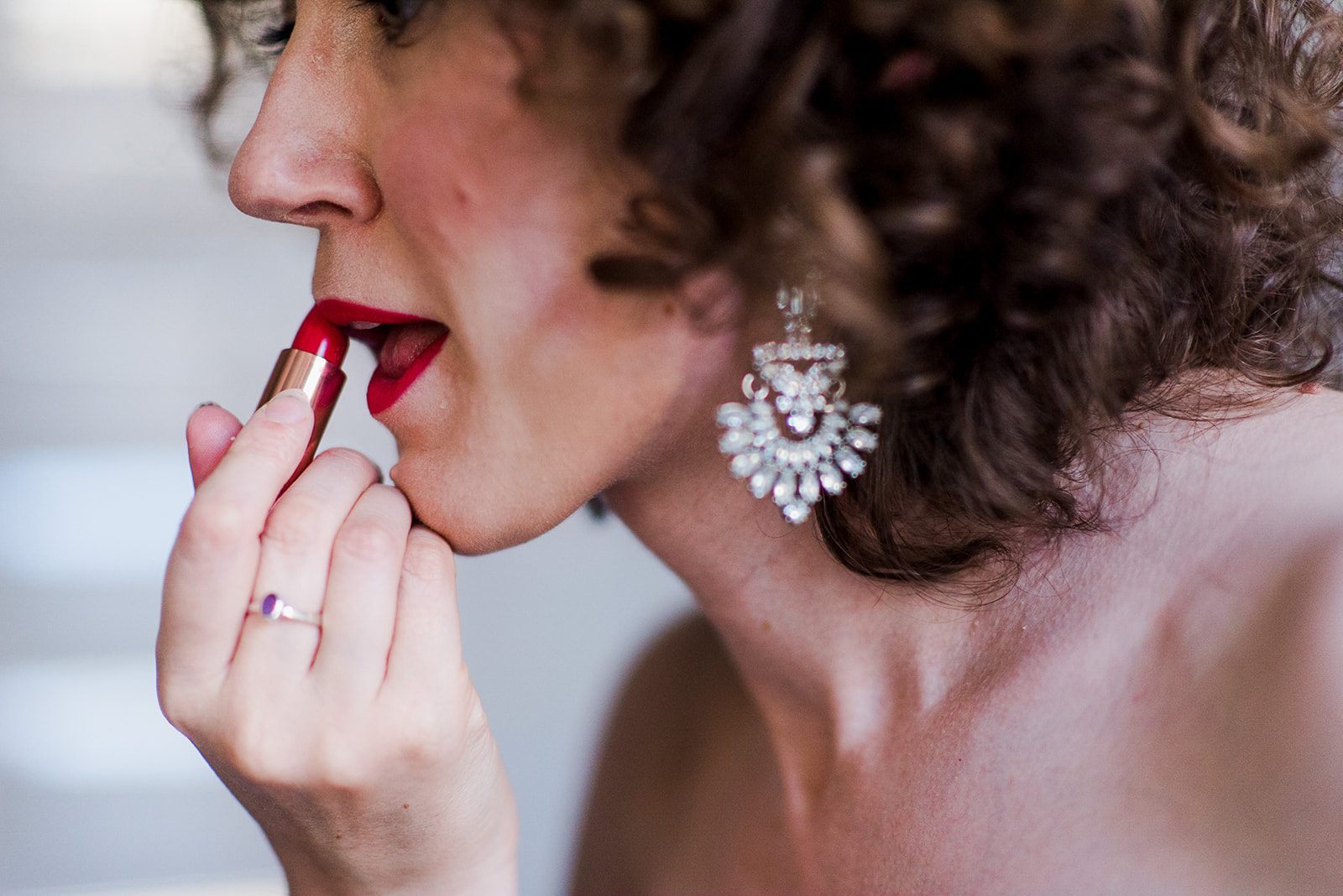 Bridal prep red lips