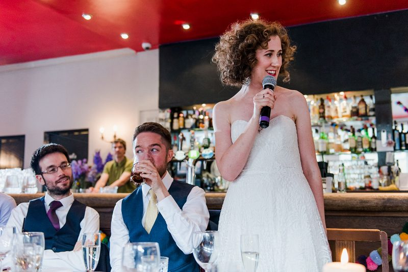 Bride speech wedding