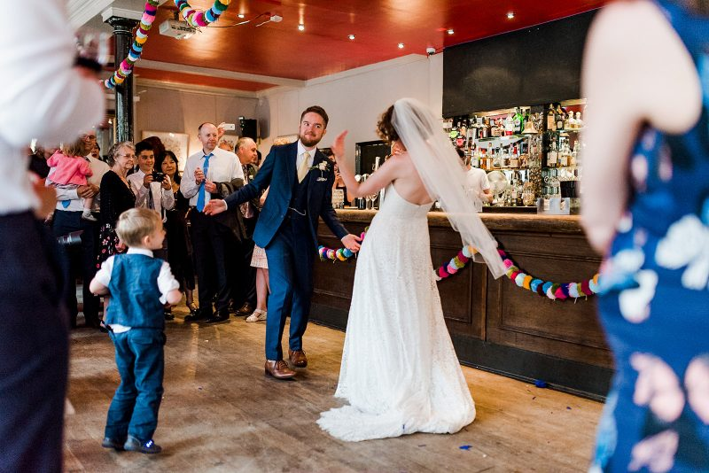 Bride groom first dance pub wedding London
