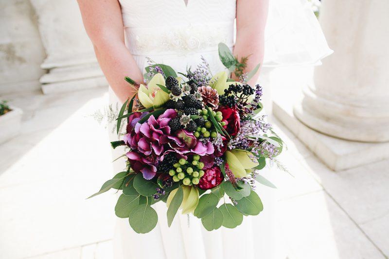 wild wedding bouquet - Woodland Real Wedding