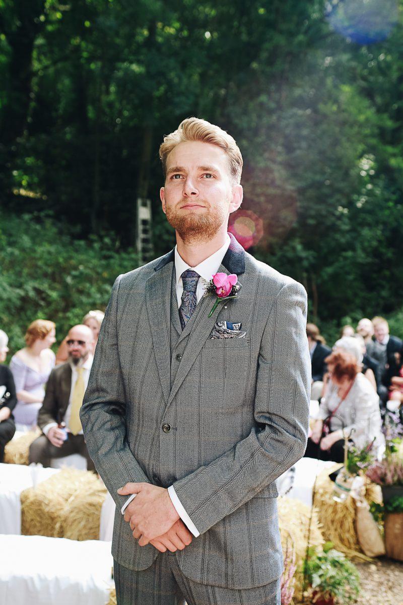 Groom grey suit