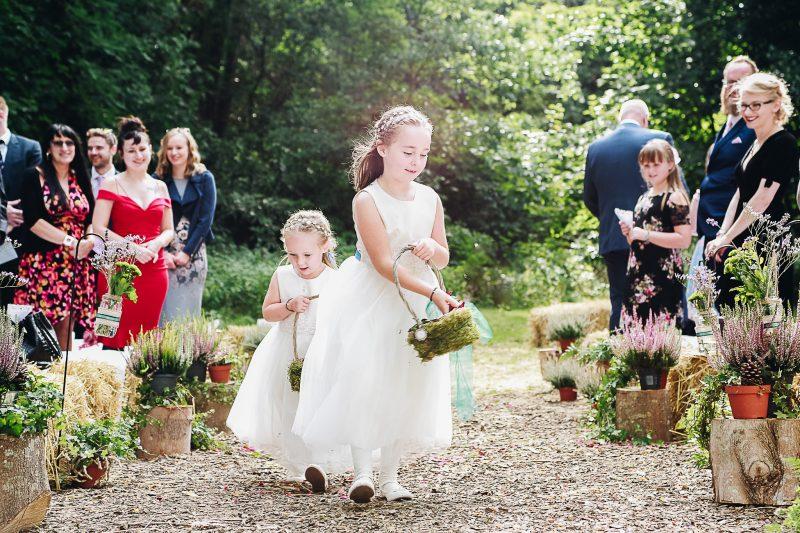 Flowergirls woodland wedding