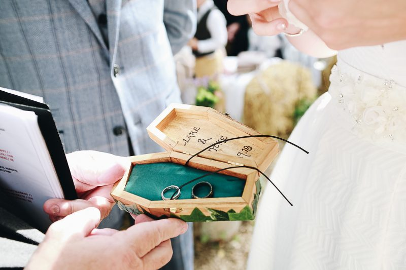 Wedding rings coffin