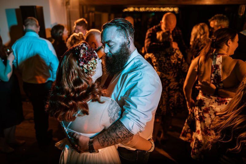 First dance autumnal wedding