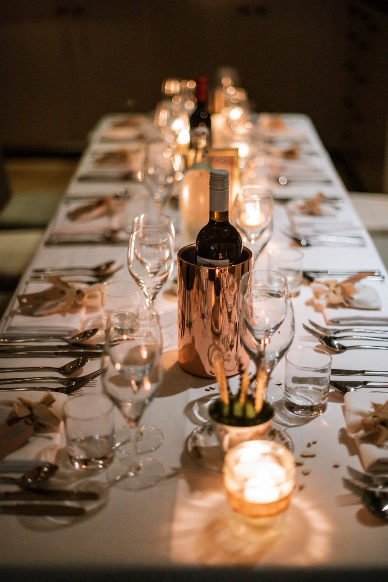 wedding table decor long tables evening wedding