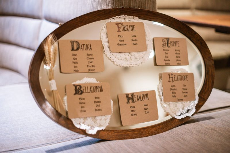 vintage wedding table plan