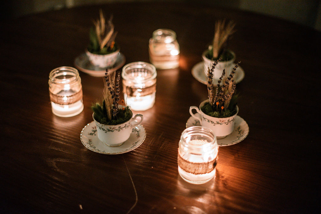 alternative wedding centrepieces
