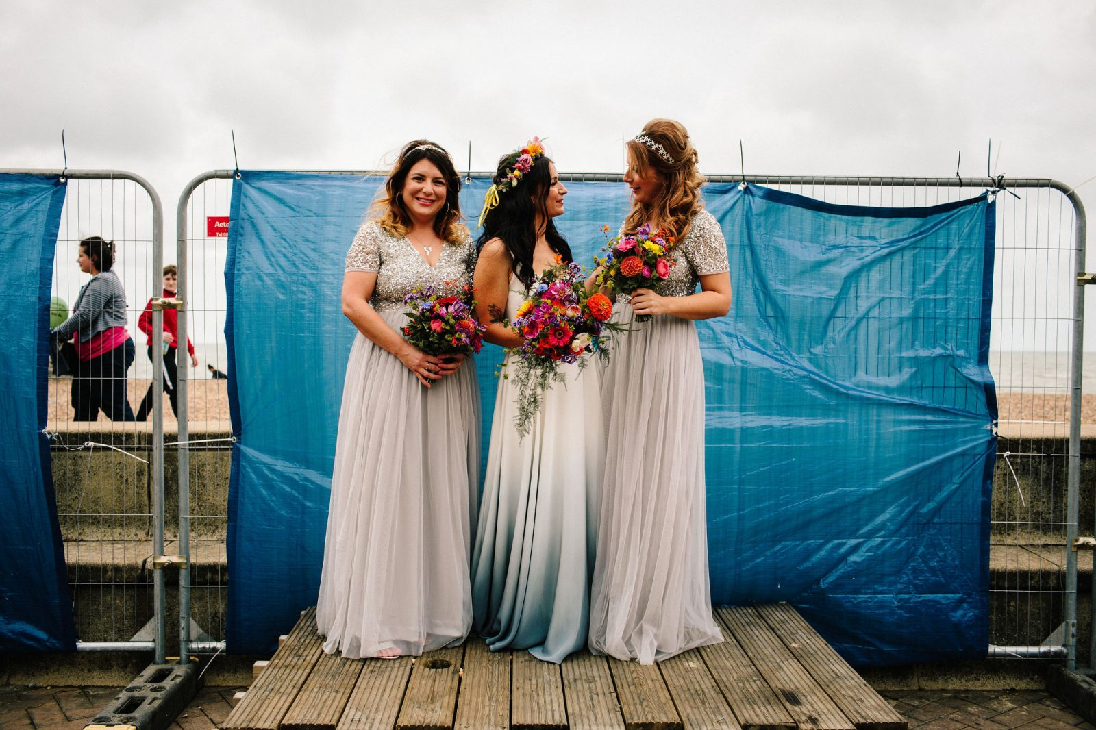Brighton Music Hall wedding bride ASOS bridesmaids dresses