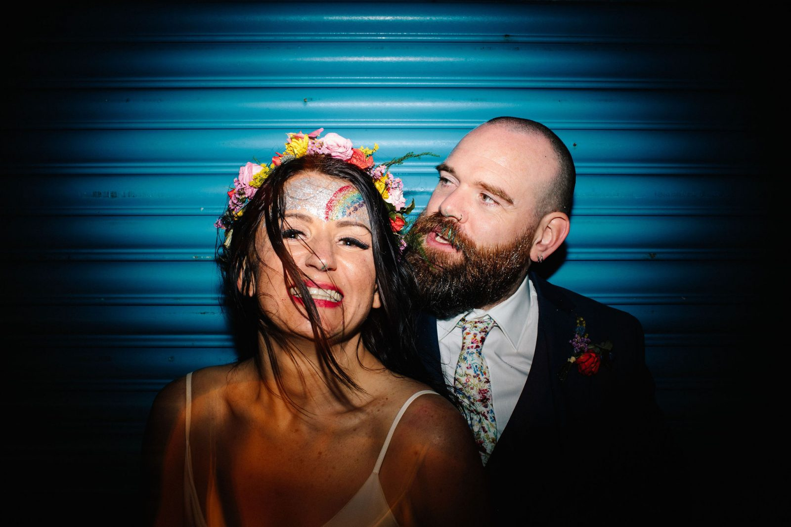 bride groom glitter Brighton wedding