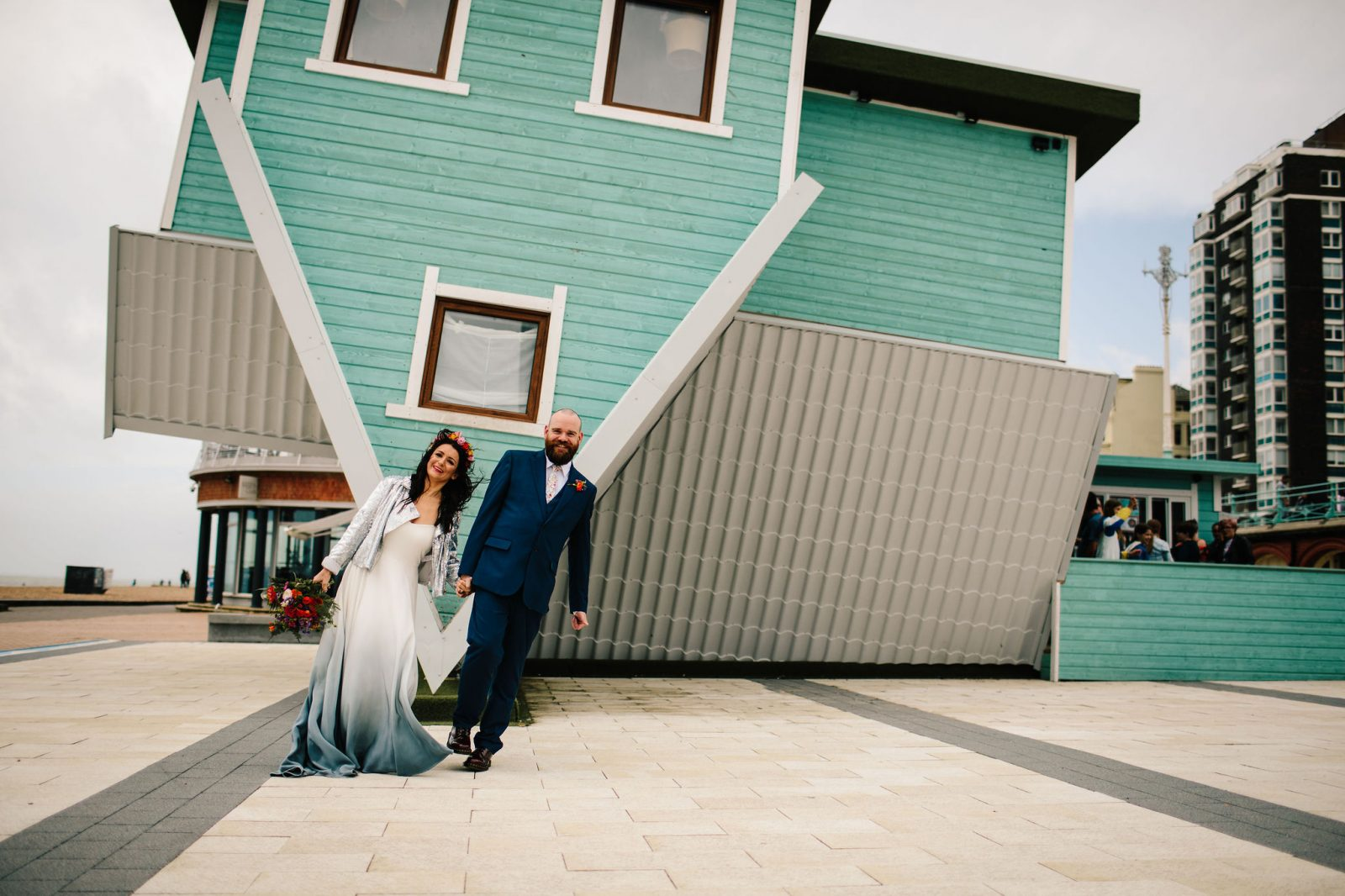 upside down house Brighton wedding
