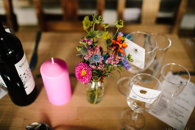 rustic colourful wedding decorations