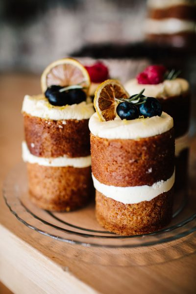 vegan lemon individual wedding cakes Southsea