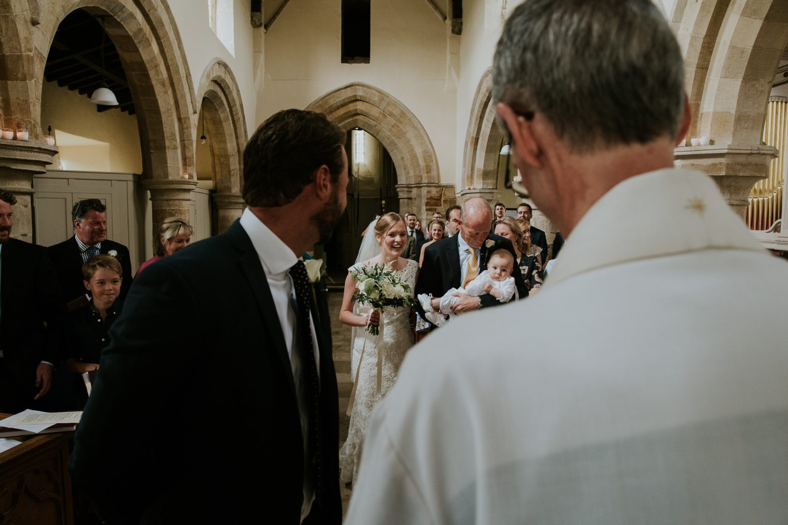 Surprise wedding christening