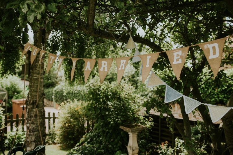 english country garden wedding bunting