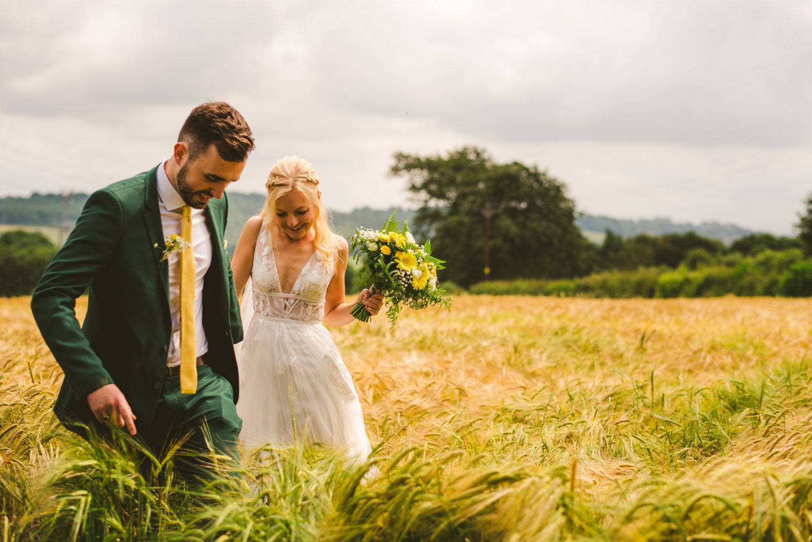 DIY Village Hall Wedding with Lemon Yellow Theme