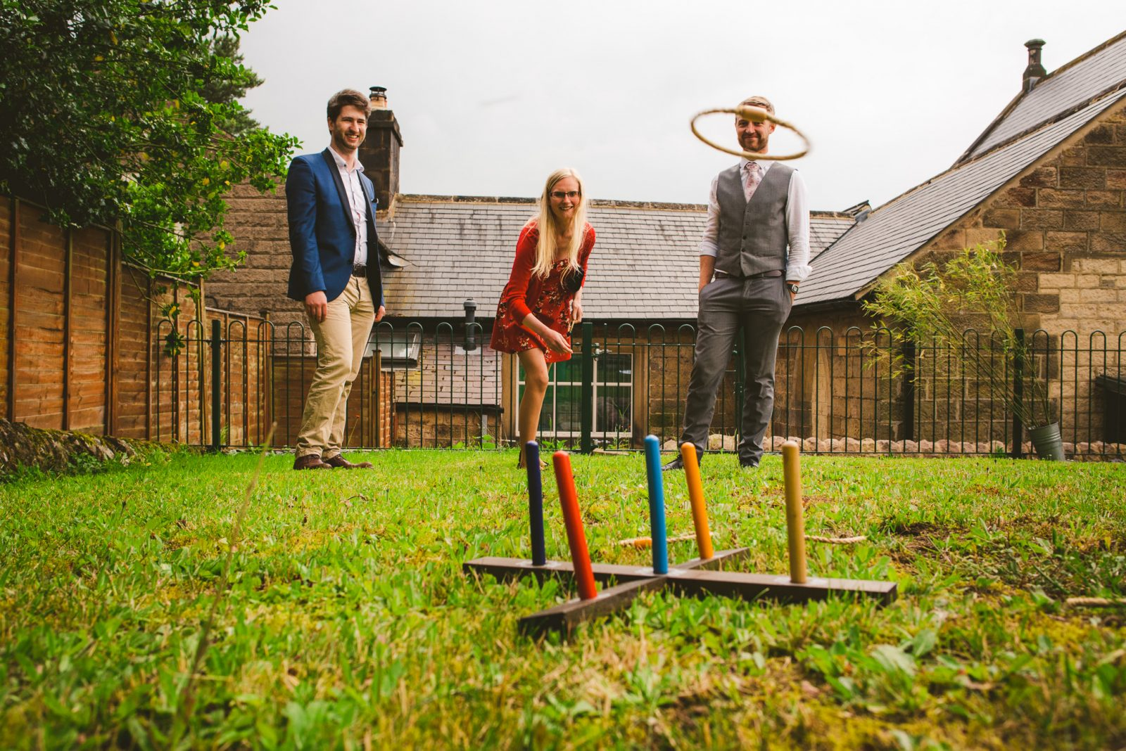 DIY Village Hall Wedding lawn games