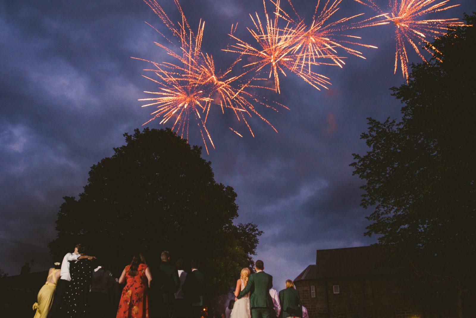 Fireworks DIY Village Hall Wedding
