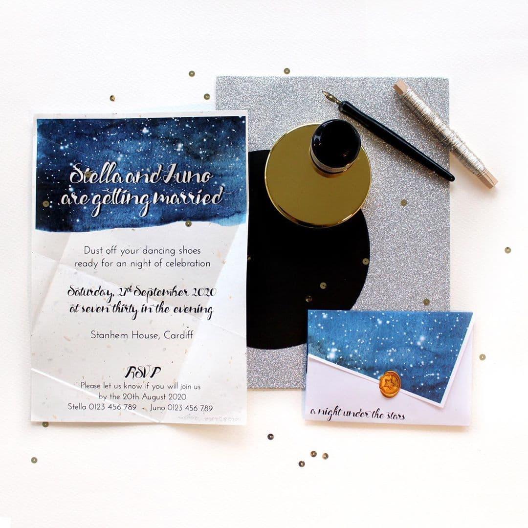 sustainable wedding invites