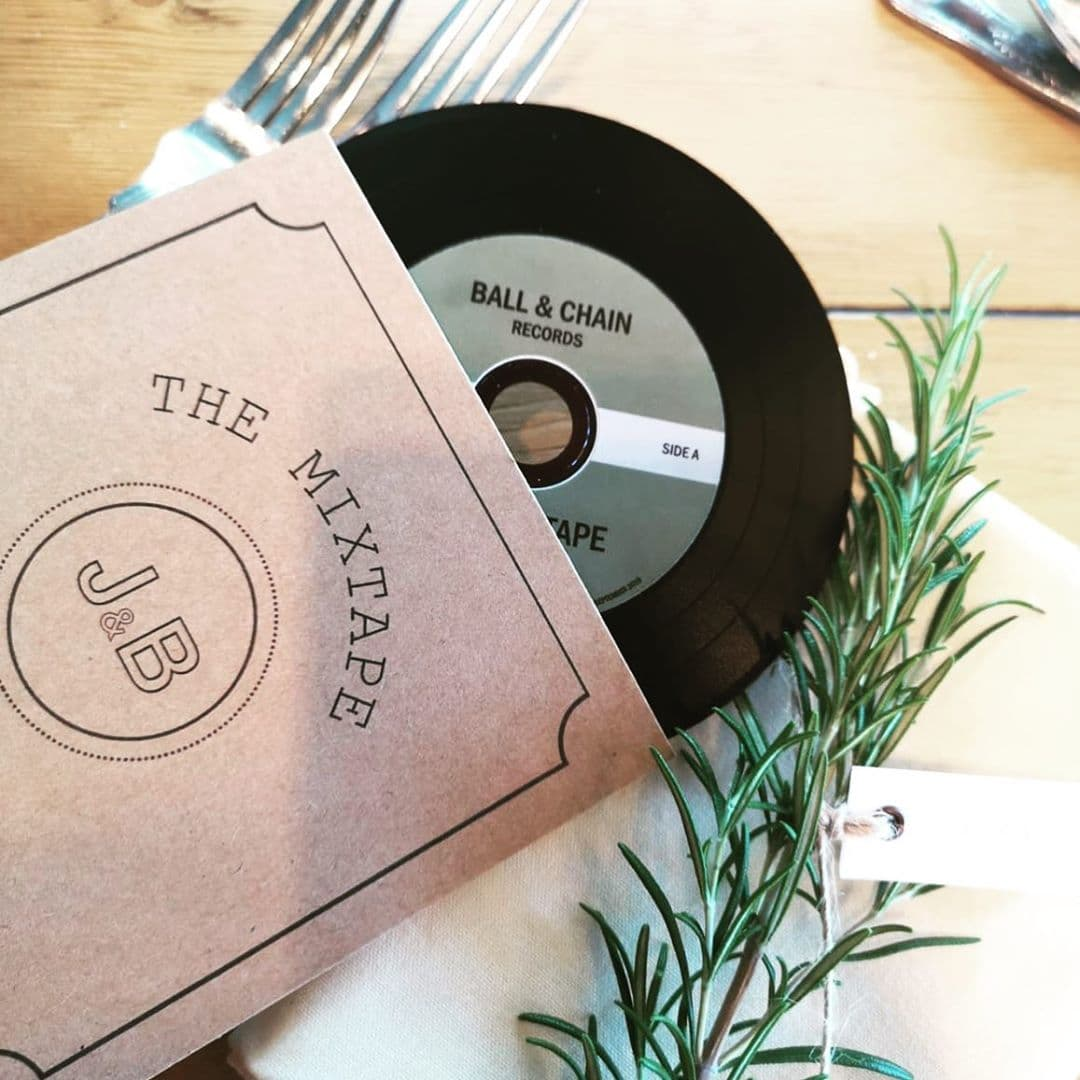 mix tape wedding favour CD
