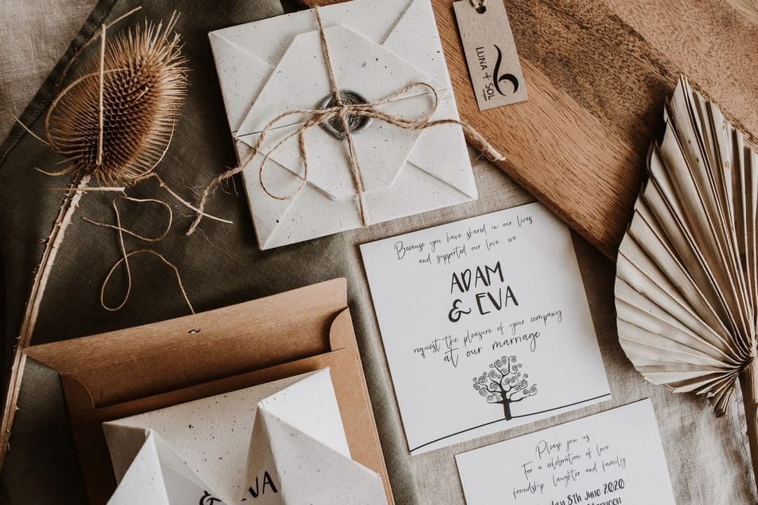 self contained wedding invites