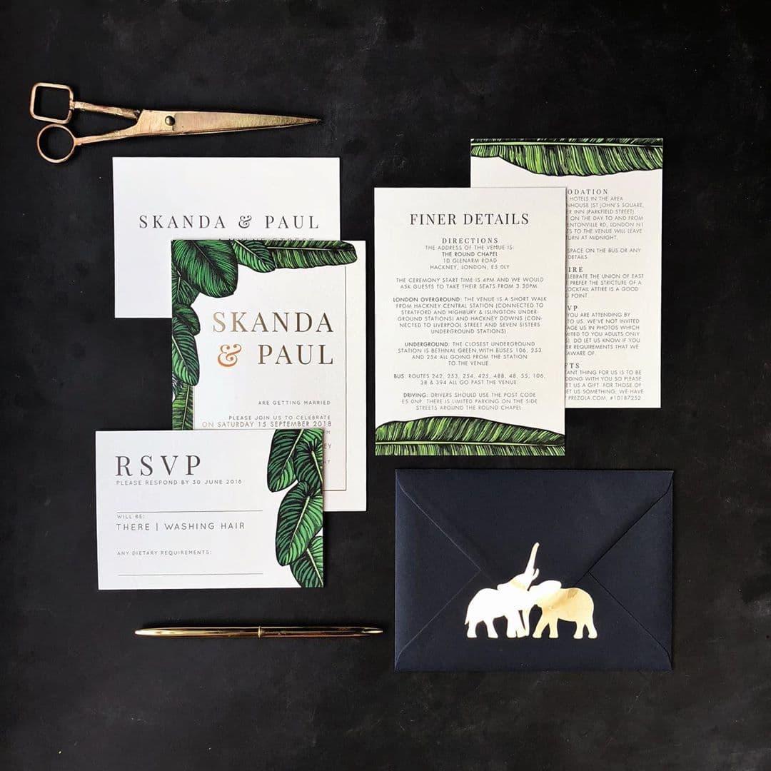 elephant wedding invites