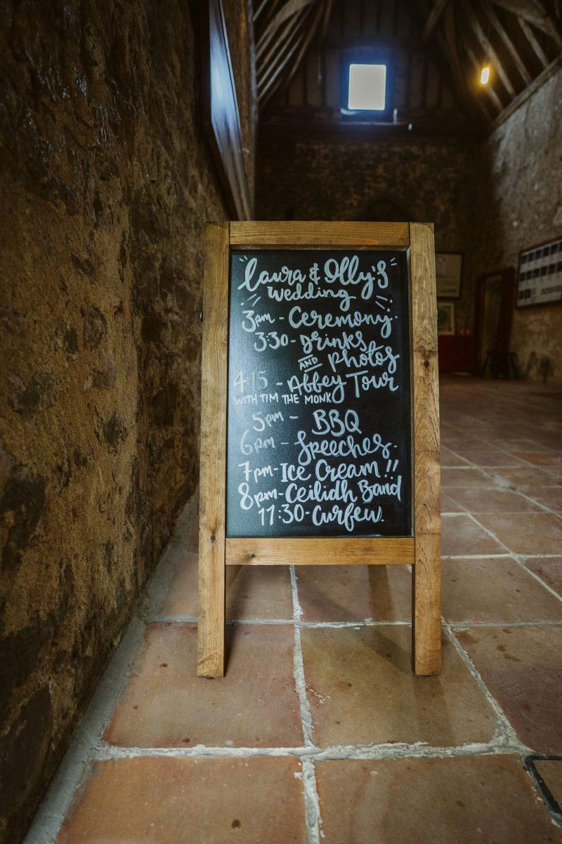 wedding decorations chalkboard