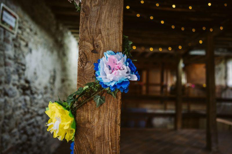 paper flowers vines DIY wedding