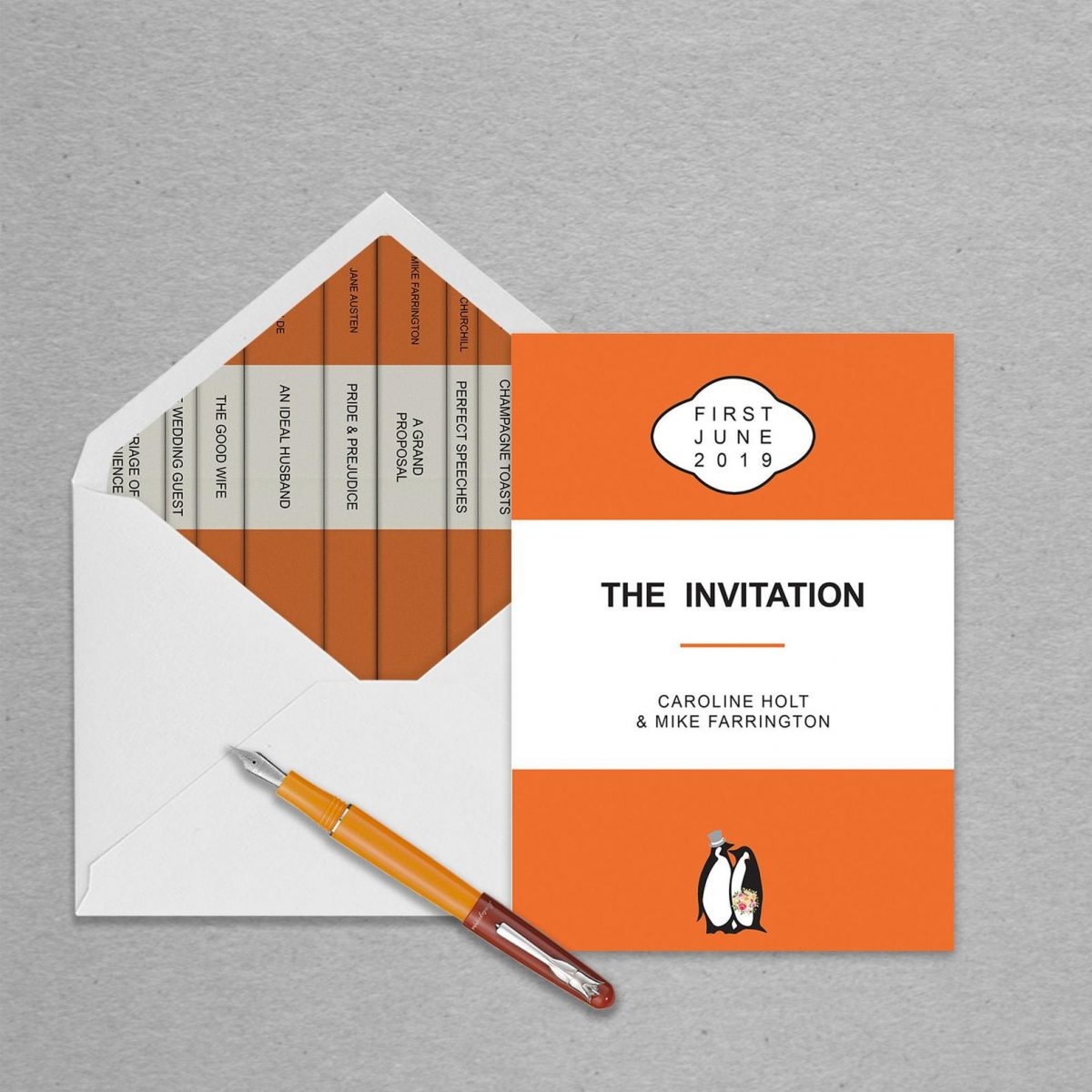 penguin classics wedding invites