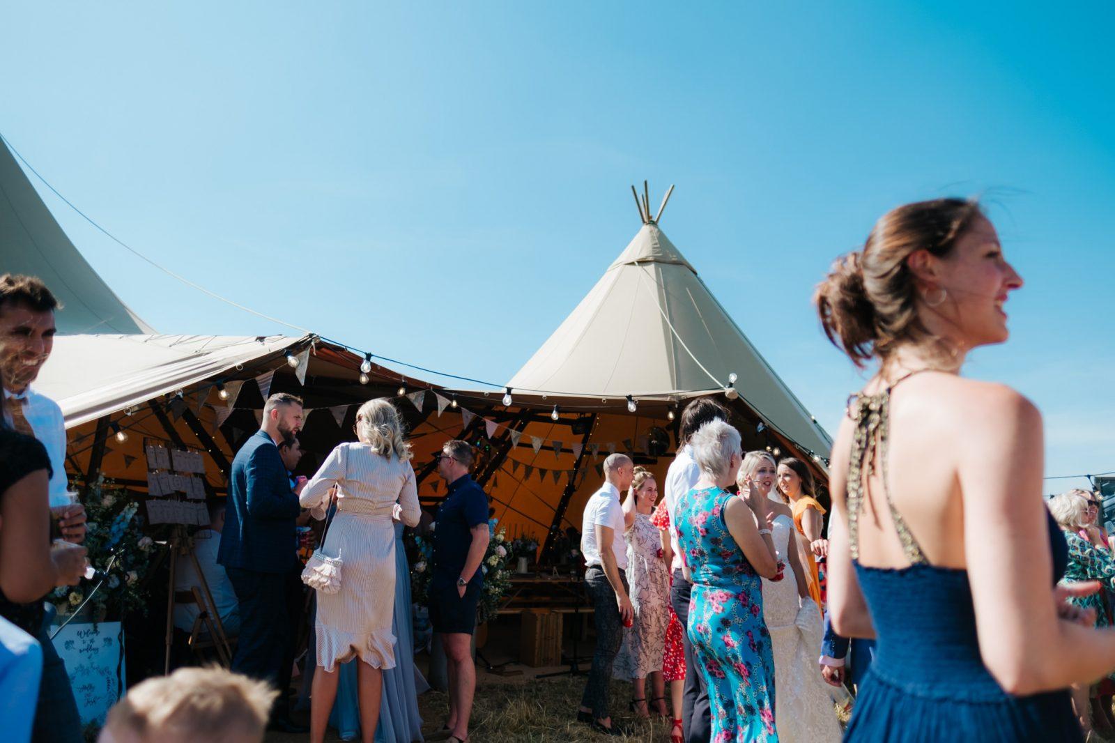 shropshire wedding tipi