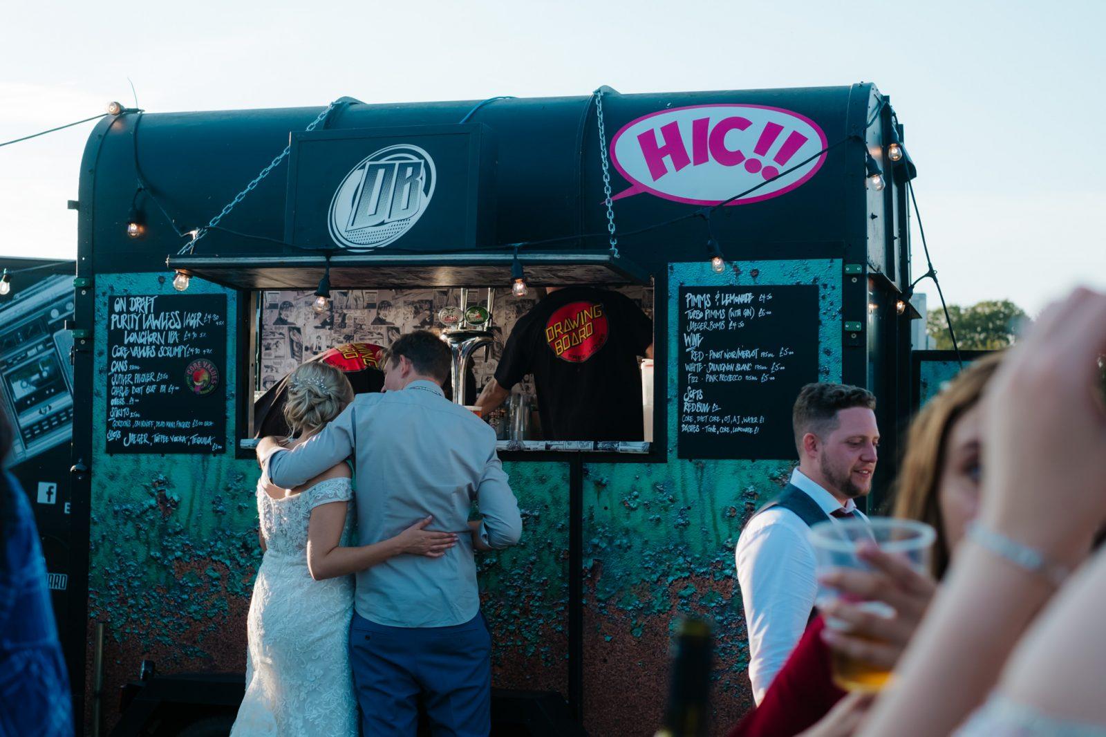 horsebox bar wedding