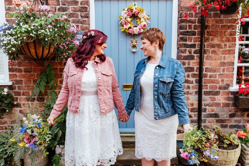 Brides wedding jackets