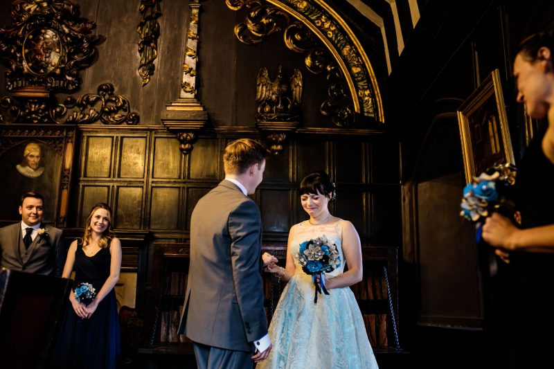 Manchester Chetham's Library wedding Harry Potter Theme